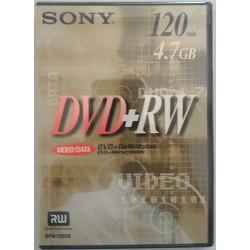 SONY DVD+RW 4,7GB 4x velocità 120min Riscrivibile/Dischi Registrabili