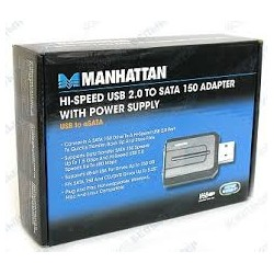 Hi-Speed USB 2.0 to SATA 150 Adapter with Power Supply USB to eSATA