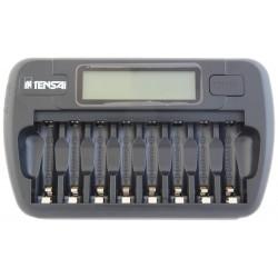 Tensai TI-800L - Caricabatterie con microprocessore e display LCD