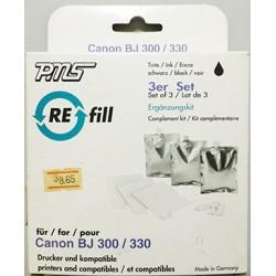 REFILL PER CANON BJ 300 / 330 SET DI 3