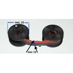 Nastro in doppia bobbina NERO/ROSSO PRO-Digital Compatibile per Calcolatrici