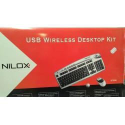 USB WIRELESS DESKTOP KIT - NILOX TASTIERA MOUSE